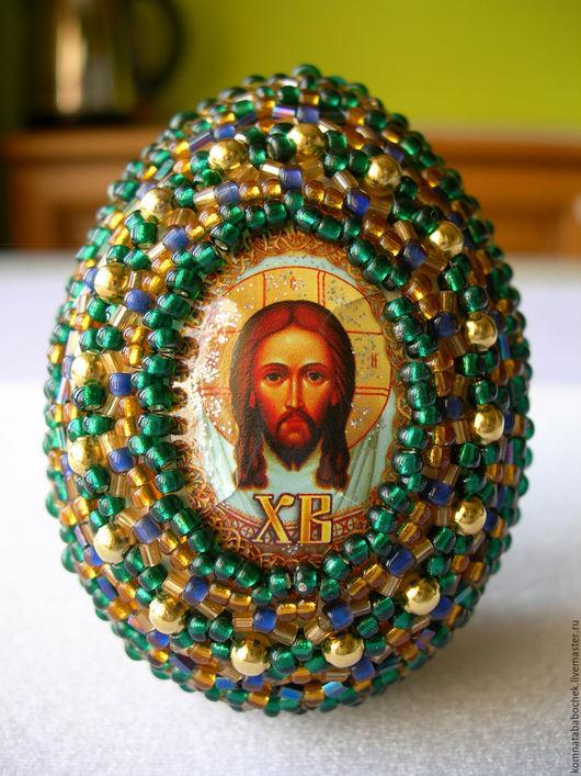 Подарки на Пасху ручной работы. Ярмарка Мастеров - ручная работа. Купить Пасхальное яйцо. Handmade. Пасха, пасхальное яйцо из бисера