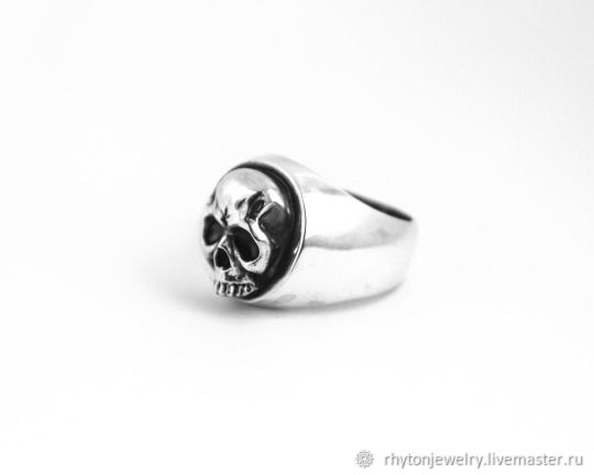 A ring with a skull made of silver, Ring, Kostroma,  Фото №1