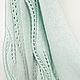 бактус шарф шарф-бактус мятный вязаный мягкий