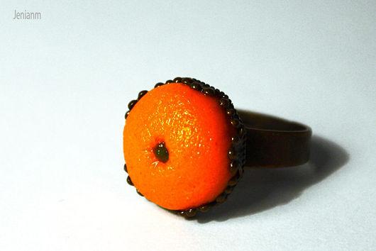 """Кольца ручной работы. Ярмарка Мастеров - ручная работа. Купить Кольцо """"Толстый апельсин"""". Handmade. Оранжевый, рыжий, подарок подруге"""