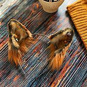 Украшения handmade. Livemaster - original item Fur Ears (Fox Halloween). Handmade.