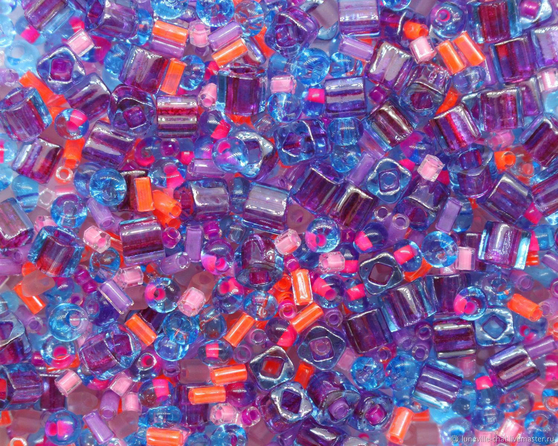 Японский бисер «TOHO» микс №10 фиолетово-голубой 10 г, Бисер, Санкт-Петербург,  Фото №1
