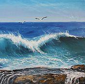 Картины ручной работы. Ярмарка Мастеров - ручная работа Море волнуется два 40х50. Handmade.