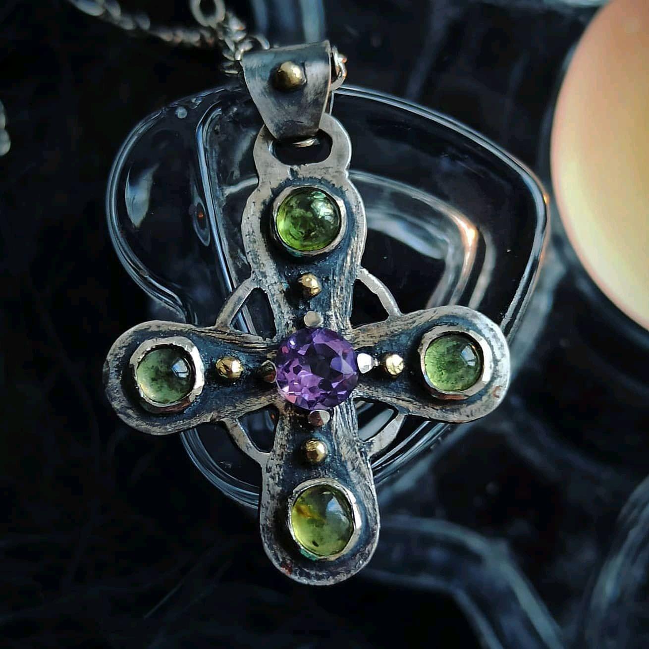 Кулон крест из серебра, Кулон, Санкт-Петербург,  Фото №1