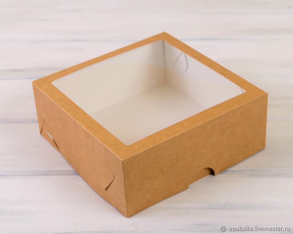 Коробка для выпечки, 25х25х11 см, с прозрачным окошком, Материалы для творчества, Москва, Фото №1