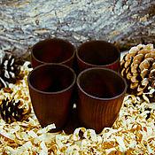 Посуда handmade. Livemaster - original item Glass (set of 4 PCs.) from the Siberian cedar for making Natural cedar C8. Handmade.