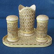 Для дома и интерьера ручной работы. Ярмарка Мастеров - ручная работа Набор для специй из бересты. Handmade.