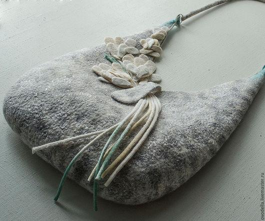 Женские сумки ручной работы. Ярмарка Мастеров - ручная работа. Купить сумка валяная Прохладный ручеек. Handmade. Сумка валяная