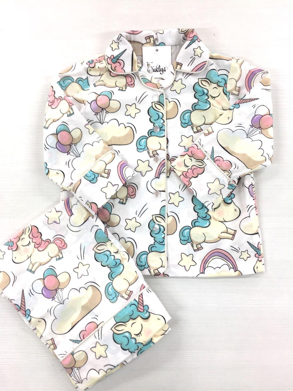Children's pajamas 'Unicorns' size 104, Pajamas and robes, Ulyanovsk,  Фото №1