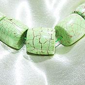 Материалы для творчества ручной работы. Ярмарка Мастеров - ручная работа САЛАТОВЫЙ магнезит бусины крупные. Handmade.