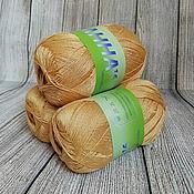 Материалы для творчества handmade. Livemaster - original item Yarn ANNA 16 304 Sandy yellow Italy Cotton. Handmade.