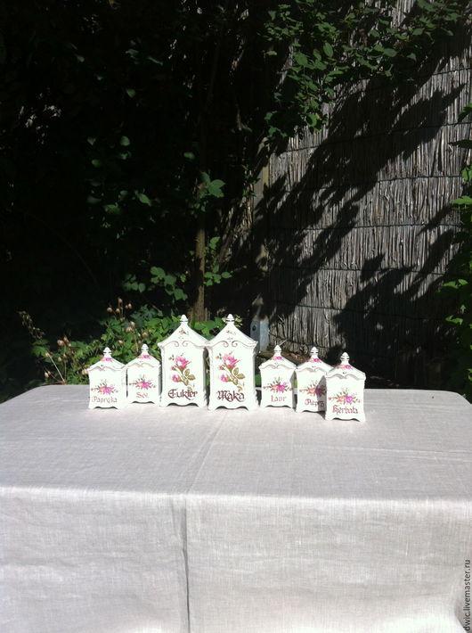 Винтажная посуда. Ярмарка Мастеров - ручная работа. Купить Набор фарфоровых баночек для специй, 7 шт.. Handmade. Набор для кухни