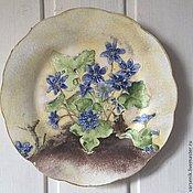 Для дома и интерьера ручной работы. Ярмарка Мастеров - ручная работа Настенная тарелка Мона Cвард  №1. Handmade.