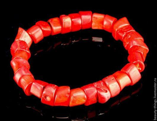 Винтажные украшения. Ярмарка Мастеров - ручная работа. Купить Красивый браслет из китайского коралла. Handmade. Коралл, винтаж, винтажное кольцо