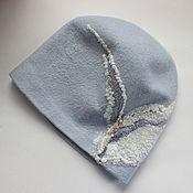 Аксессуары handmade. Livemaster - original item Beanie felted Silver. Handmade.