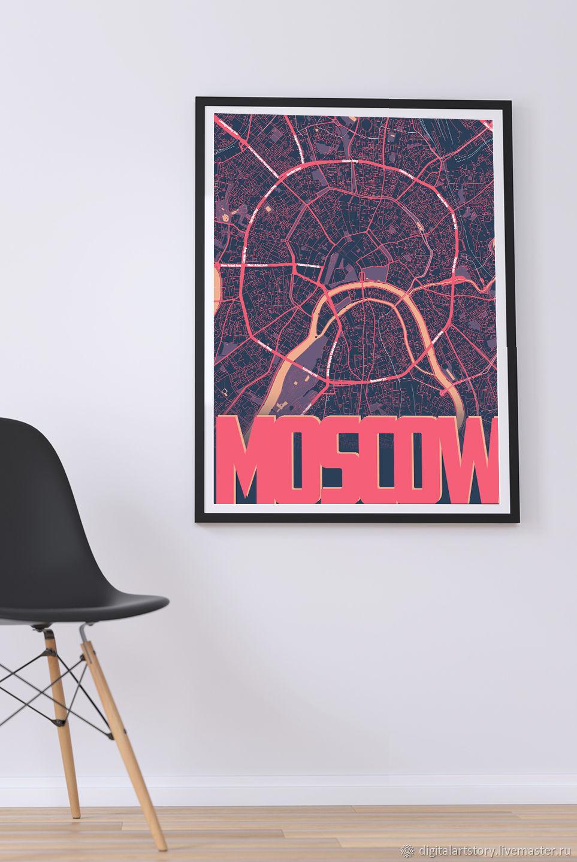 """Постер """"Город мира"""", Иллюстрации, Москва,  Фото №1"""