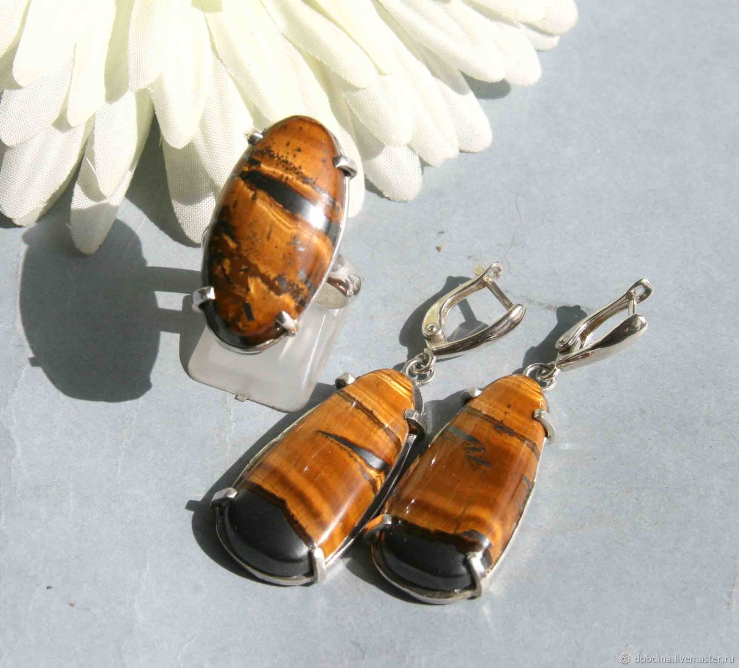 set of tiger eye. Silver, Jewelry Sets, Moscow,  Фото №1