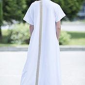 Одежда handmade. Livemaster - original item Extravagant, white dress in floor - DR0113W2. Handmade.