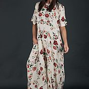 Одежда handmade. Livemaster - original item Fashionable summer jumpsuit in boho style-JP0362CV. Handmade.