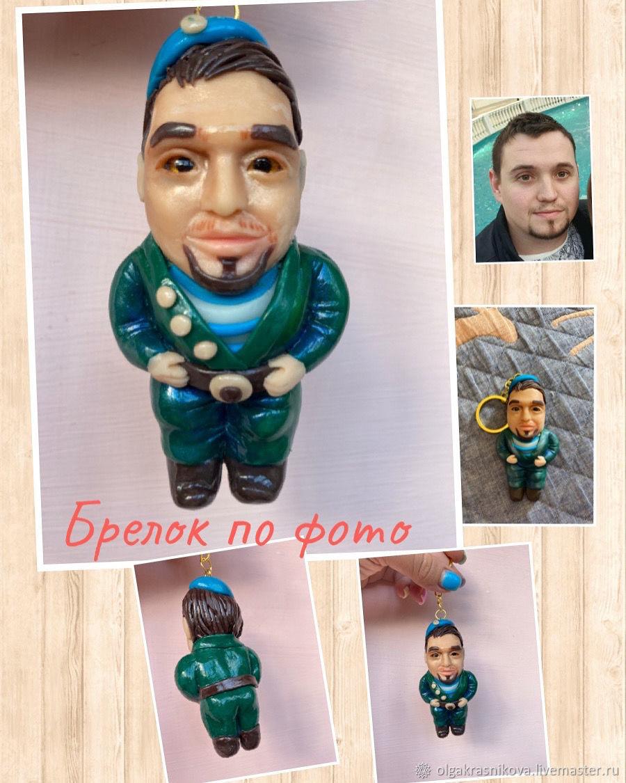 Брелок портрет, Портретная кукла, Москва,  Фото №1