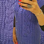 Одежда handmade. Livemaster - original item Knitted Women`s Vest Women`s Vests Cardigans Sleeveless Knitted. Handmade.