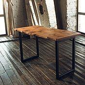 Столы ручной работы. Ярмарка Мастеров - ручная работа Стол из слэба с живым краем. Handmade.