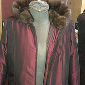 Одежда ручной работы. Ярмарка Мастеров - ручная работа Парка, пихора, пальто демисезонное с подстежкой натуральный мех.. Handmade.