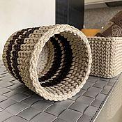 Хранение вещей ручной работы. Ярмарка Мастеров - ручная работа Маленькая круглая корзинка для интерьера. Handmade.