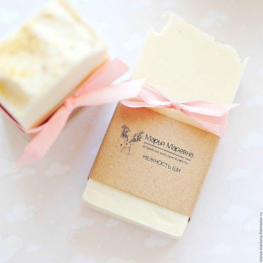 """Мыло ручной работы. Ярмарка Мастеров - ручная работа. Купить """"Нежность ши"""" Натуральное мыло с эфирным маслом иланг-иланга. Handmade."""