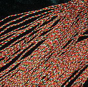 Материалы для творчества handmade. Livemaster - original item Five-colored cord for beads, 1 meter. Handmade.