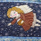 """Картины и панно ручной работы. Ярмарка Мастеров - ручная работа Панно """" Ангел со снегом в горшочке"""". Handmade."""