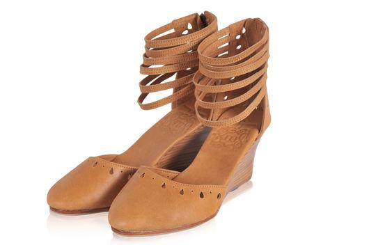 Обувь ручной работы. Ярмарка Мастеров - ручная работа. Купить Anatolia, женственные, стильные босоножки.. Handmade. Бежевый, обувь