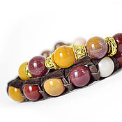 Украшения handmade. Livemaster - original item Set of bracelets Shambala with Australian Jasper, Mukai. Handmade.