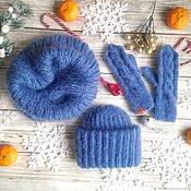 Аксессуары handmade. Livemaster - original item Knitted accessories set