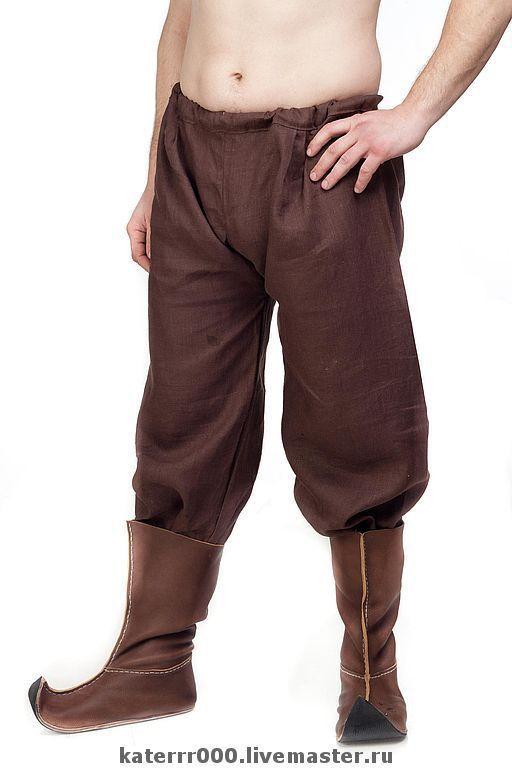 Одежда ручной работы. Ярмарка Мастеров - ручная работа. Купить Льняные штаны традиционного кроя. Handmade. Штаны, льняная одежда