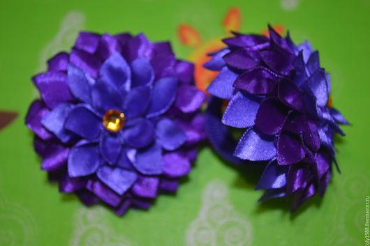 Детская бижутерия ручной работы. Ярмарка Мастеров - ручная работа. Купить пара резиночек. Handmade. Комбинированный, резинка с цветком, цветы