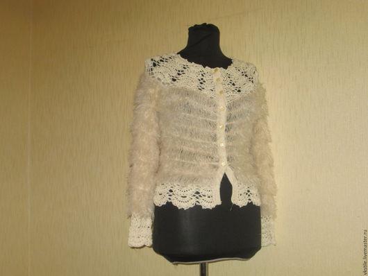 Кофты и свитера ручной работы. Ярмарка Мастеров - ручная работа. Купить Кофточка Амели. Handmade. Бежевый, Кофточка вязаная