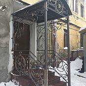 Для дома и интерьера handmade. Livemaster - original item Wrought iron entrances, canopies. Handmade.