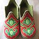 Обувь ручной работы. Ярмарка Мастеров - ручная работа. Купить Хан и ханум. Handmade. Зеленый, восточные мотивы, 100% шерсть