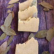 Мыло ручной работы. Ярмарка Мастеров - ручная работа Алеппское мыло, Лавровое натуральное мыло. Масло лавра 20%. Handmade.