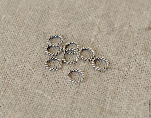 Для украшений ручной работы. Ярмарка Мастеров - ручная работа. Купить Кольцо витое закрытое серебро 925, 6мм. Handmade.