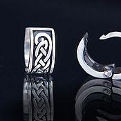 Украшения handmade. Livemaster - original item Earrings with Celtic pattern. Handmade.