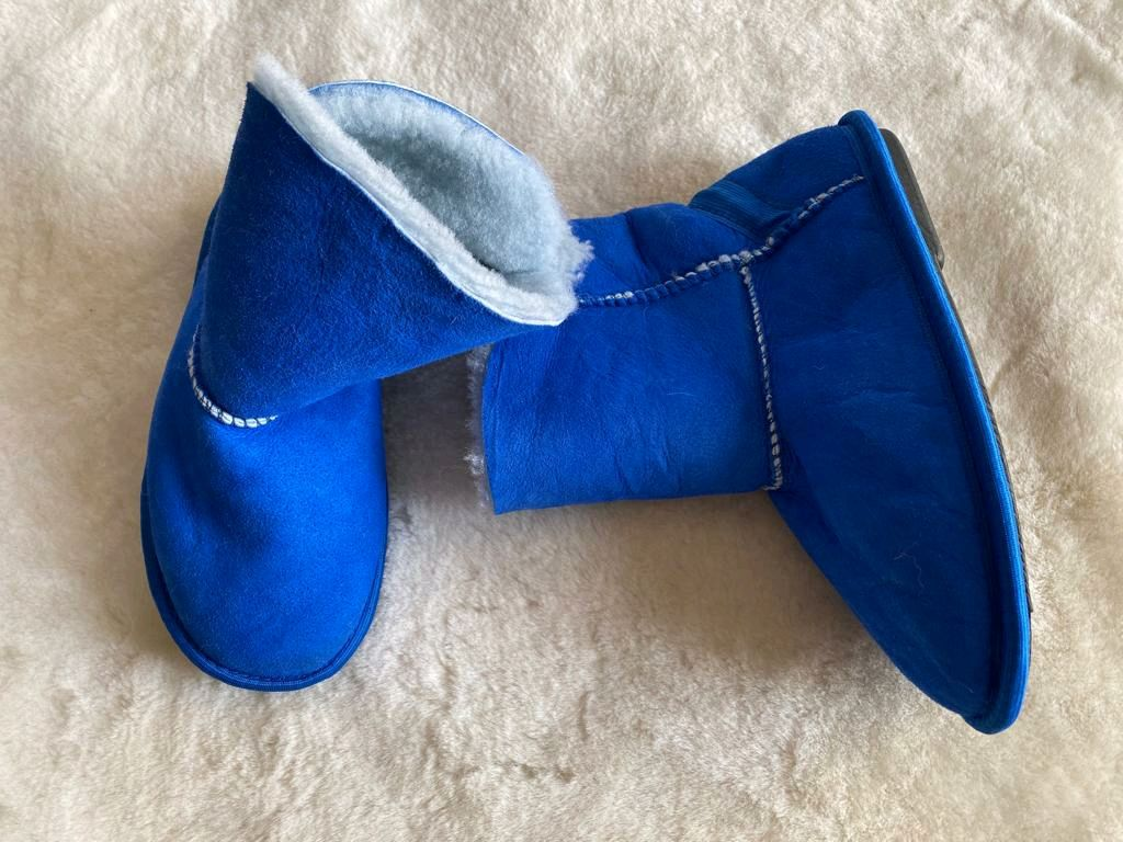 Uggs made of sheepskin fur blue, Ugg boots, Moscow,  Фото №1