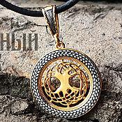 Украшения handmade. Livemaster - original item Amulet Tree Of Life. 999 gold and 925 Silver art. Three million eleven thousand five hundred two. Handmade.