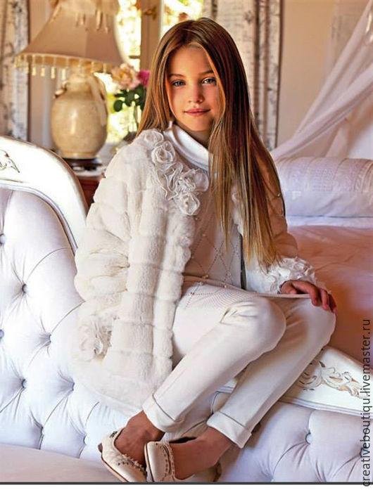 Одежда для девочек, ручной работы. Ярмарка Мастеров - ручная работа. Купить Шубка белая зима для девочки 6 лет Продана!. Handmade.