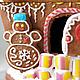 Кулинарные сувениры ручной работы. Уютный пряничный домик снеговика. Крошка Пряник. Евгения. Ярмарка Мастеров. Пряничный домик