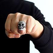 "Украшения handmade. Livemaster - original item Ring ""Skull thinker"" of silver 925. Handmade."