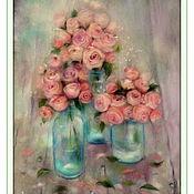 Картины и панно ручной работы. Ярмарка Мастеров - ручная работа скидка Картина из шерсти Розовые грёзы. Handmade.