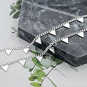 Материалы для творчества handmade. Livemaster - original item 50 cm Triangle Chain color silver (5304-S). Handmade.