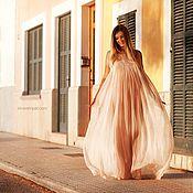 Одежда ручной работы. Ярмарка Мастеров - ручная работа Платье из шифона в пол. Handmade.